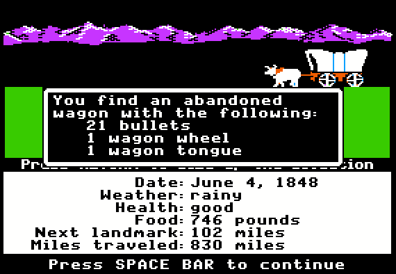 You Have Died of Dysentery: The Oregon Trail Game
